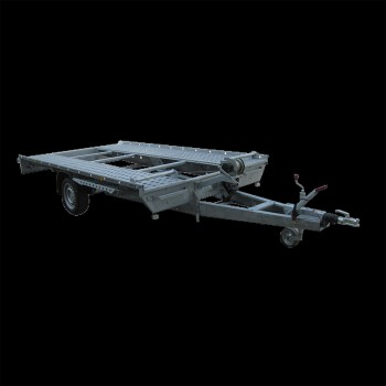 Single axle mechanical/manual tilt car-transporter trailer